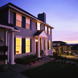 Tract House at Twilight